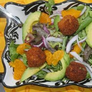 Citrus Salad with Goat Cheese Croquettes