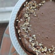Nutella Cheesecake with Biscoff Cookie Crust