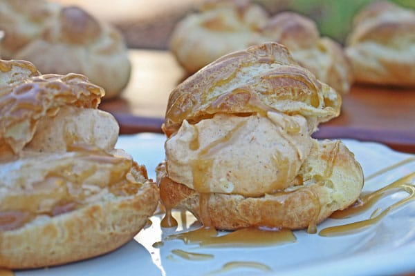 Profiteroles with Pumpkin Cream and Salted Caramel Sauce - Cooking for ...