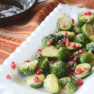 Roasted Brussels Sprouts with Brown Butter & Pomegranate Seeds