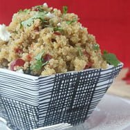 Quinoa with Cranberries, Goat Cheese, and Pecans