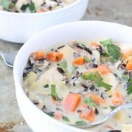 Creamy Chicken and Wild Rice Soup: Frugal and Figure-Friendly Fridays