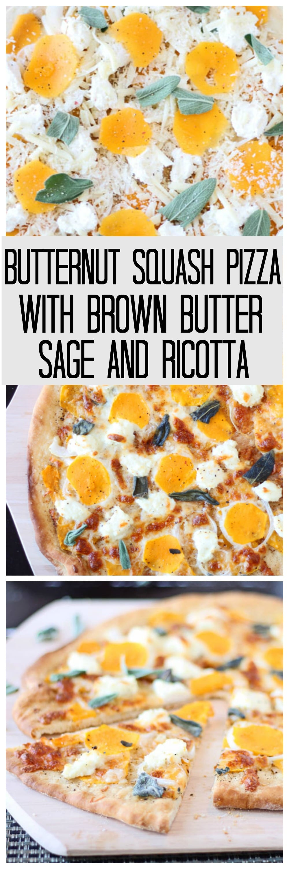 Buternut Squash Pizza with Brown Butter, Sage and Ricotta