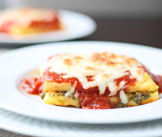 Baked polenta lasagna - Baked polenta cheese recipes ...