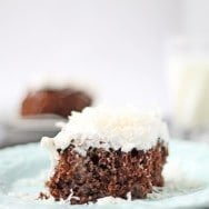 Chocolate Coconut Tres Leche Cake- Lightened Up