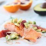 Salmon with Fennel, Avocado & Blood Orange Vinaigrette