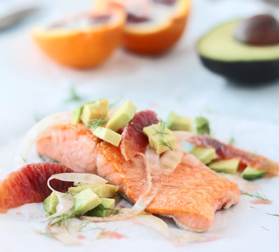 Salmon with Fennel, Avocado & Blood Orange Vinaigrette