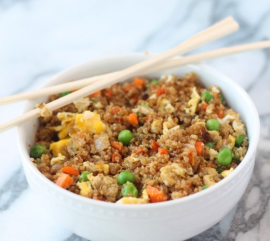 "Quinoa Fried ""Rice"" - Cooking for Keeps"