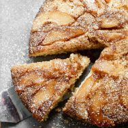 Upside-Down Pear Cake with Brown Butter
