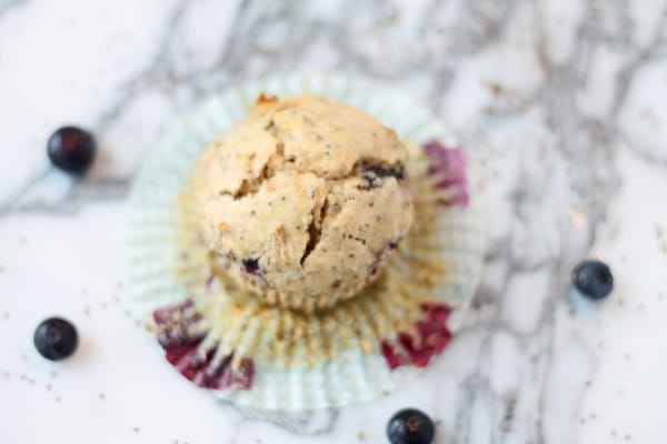 Blueberry Bran Muffins with Chia Seeds
