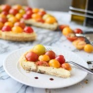 Goat Cheese & Mascarpone Tart with Cherry Tomatoes