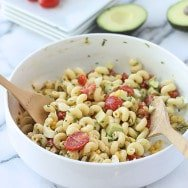 Cobb Pasta Salad with Red Wine Vinaigrette