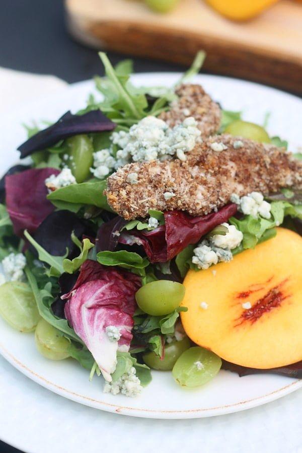 grape pecan blue cheese salad