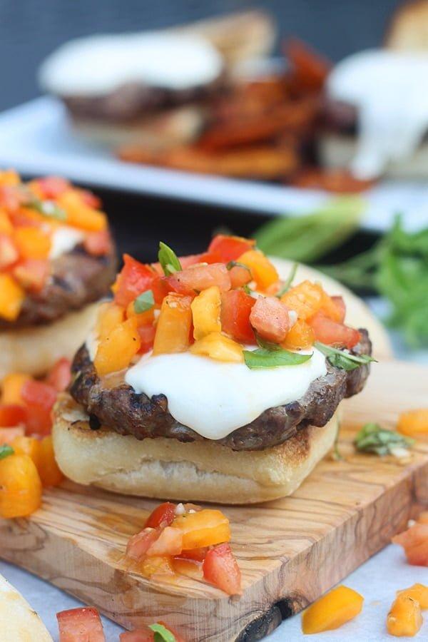 Bruschetta Burgers