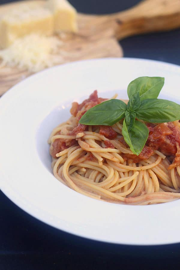 Angel Hair Alla Sweet Vermouth with Goat Cheese and Basil