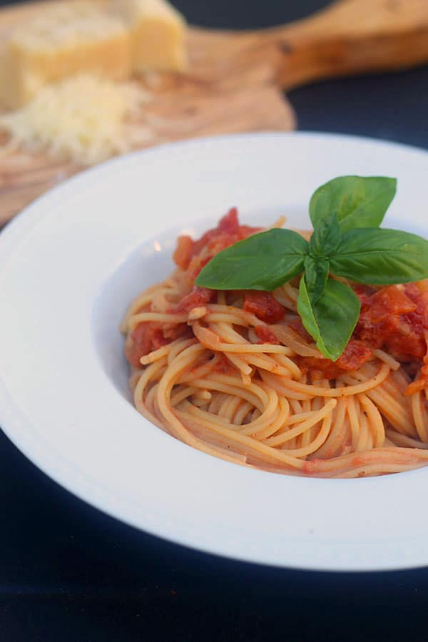 Angel Hair alla Vermouth with Goat Cheese and Basil