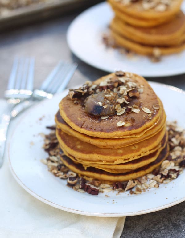 Pumpkin Pancakes with Brown Butter and Pecan Streusel - Cooking for ...