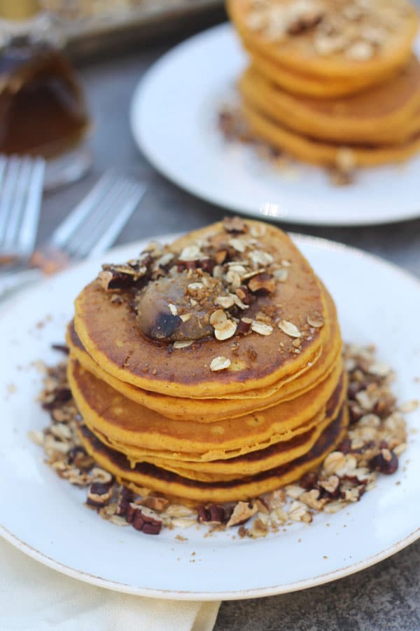 Pumpkin Pancakes with Brown Butter and Pecan Streusel ...