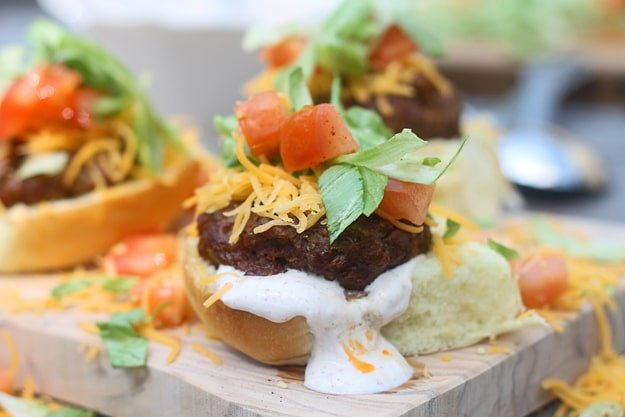 Supreme Taco Burgers with Cumin Sour Cream 3