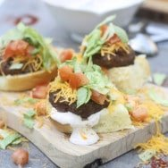 Supreme Taco Burgers with Chili Cumin Sour Cream