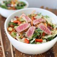 Chopped Ahi Tuna Salad with Sesame Ginger Vinaigrette