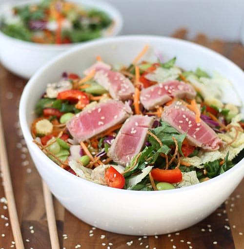 Ahi Tuna Salad with Sesame Ginger vinaigrette PS
