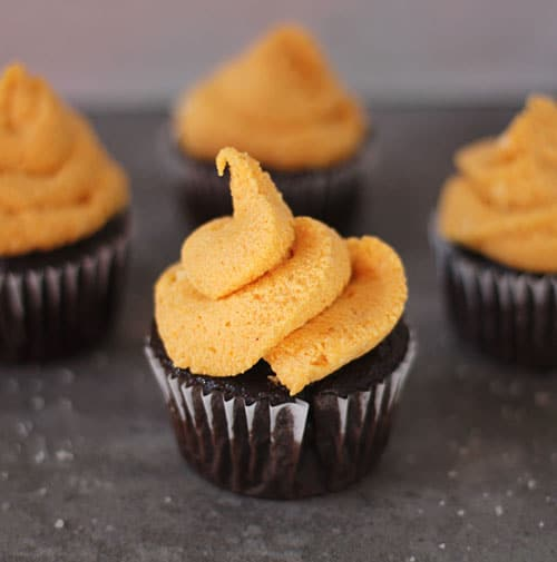Chocolate Cupcakes with Pumpkin Cream Cheese Frosting PS2