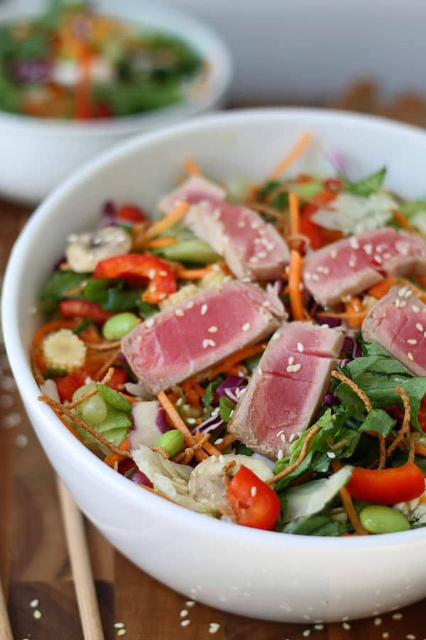 Chopped Ahi Tuna Salad with Sesame Ginger Vinaigrette 3