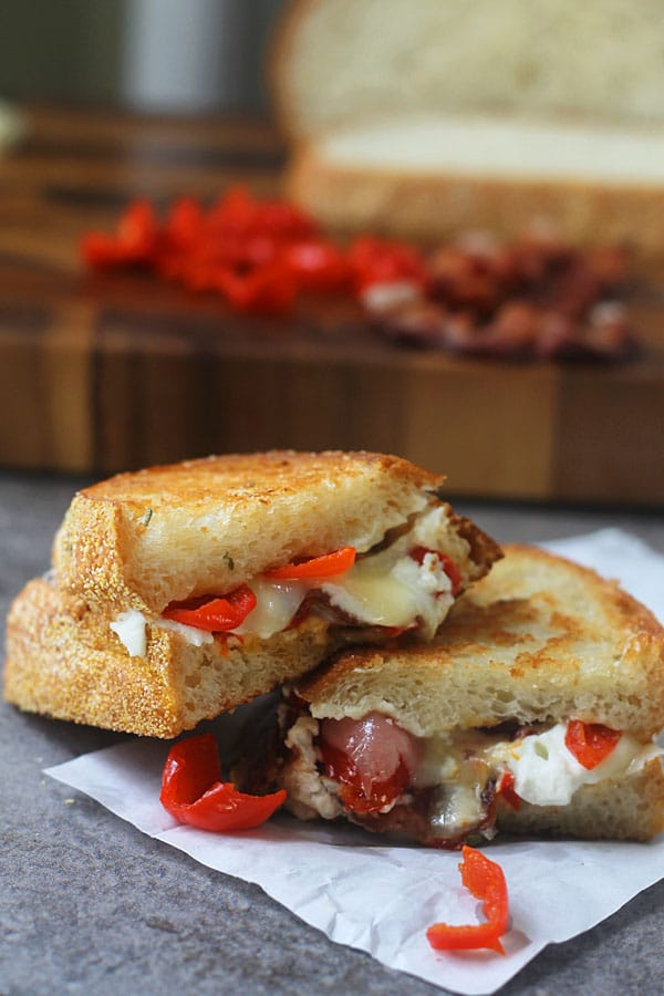 Peppadew Pepper, Goat Cheese and Bacon Grilled Cheese 2_edited-1