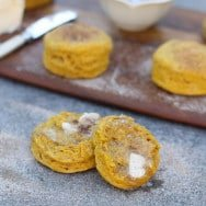 Pumpkin Biscuits with Brown Butter and Cinnamon Sugar