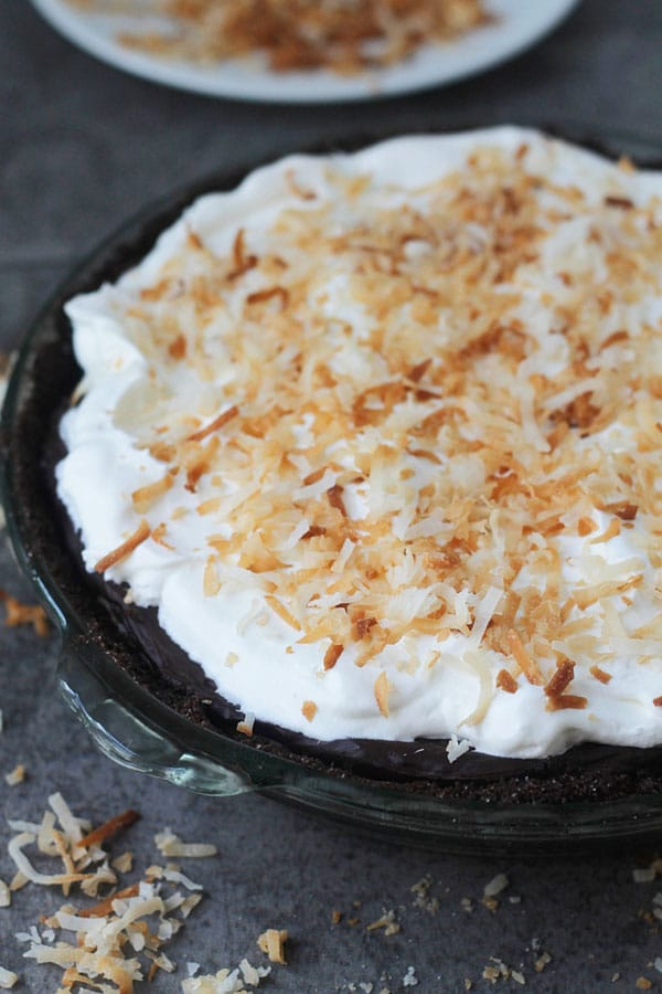 Pumpkin Coconut Cream Pie with Chocolate Ganache and Chocolate Graham Cracker Crust 1