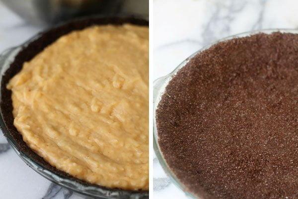 Pumpkin Coconut Cream Pie with Chocolate Ganache and Chocolate Graham Cracker Crust Combo
