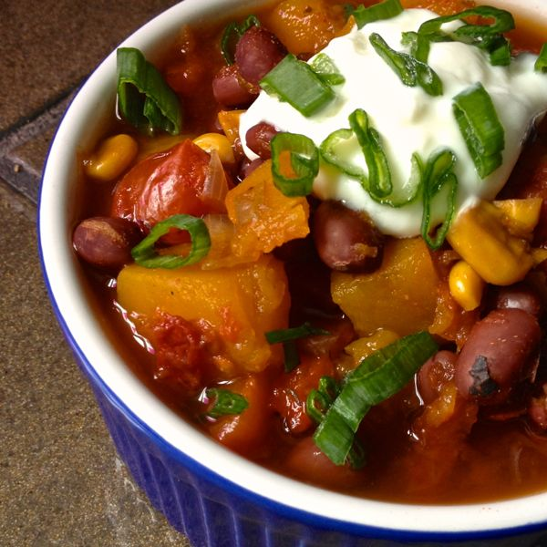 Slow-Cooker-Vegetarian-Chili-with-Butternut-Squash-The-Lemon-Bowl