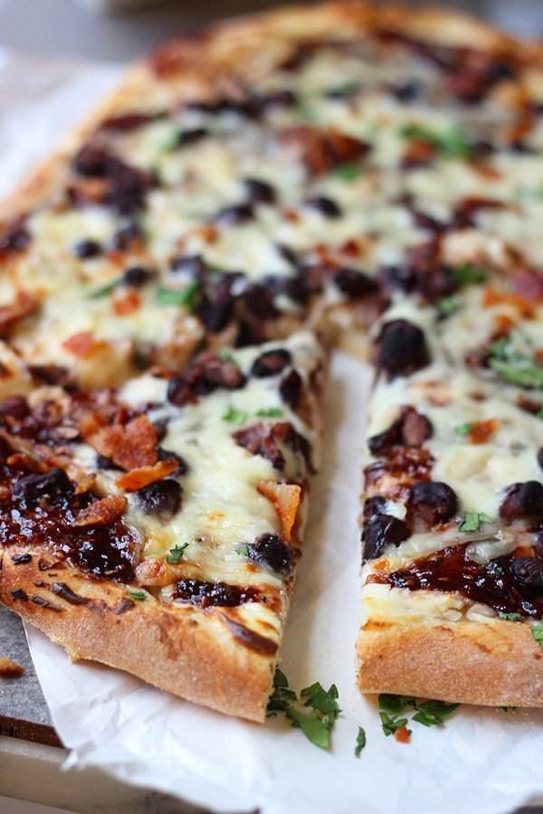 Chipotle Raspberry and Black Bean Pizza 2