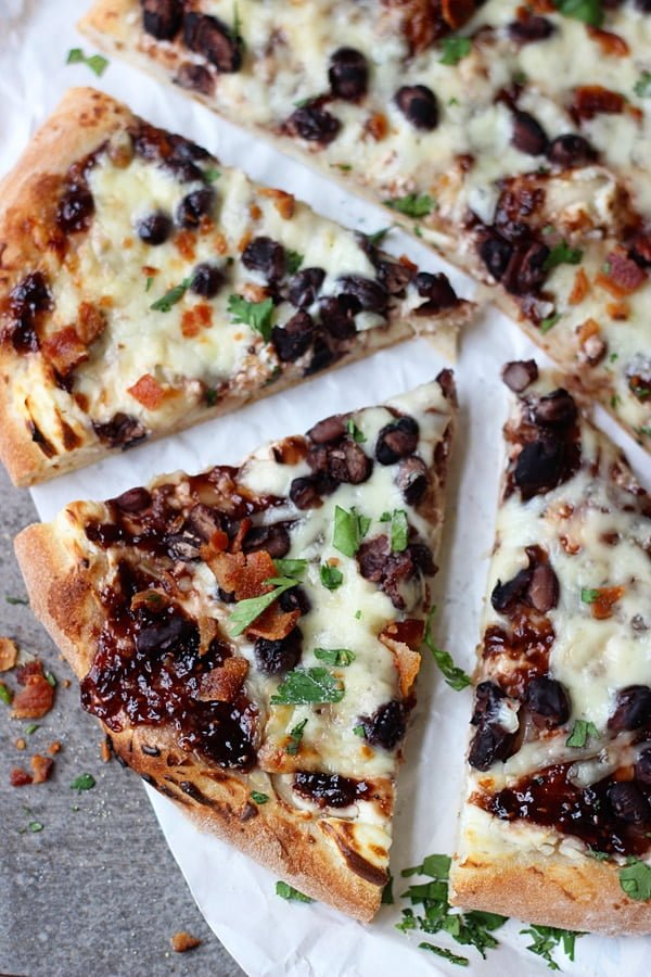 Chipotle Raspberry and Black Bean Pizza 3