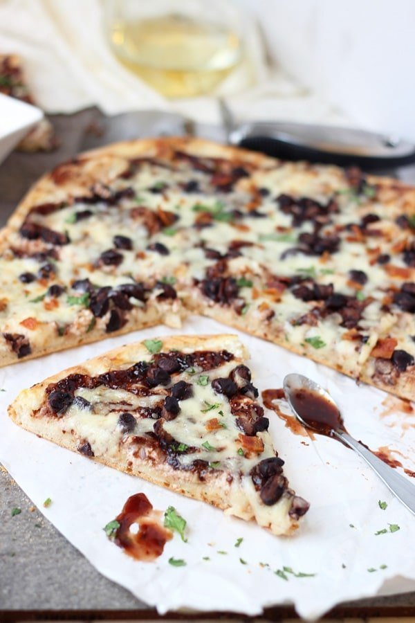 Chipotle Raspberry and Black Bean Pizza 5