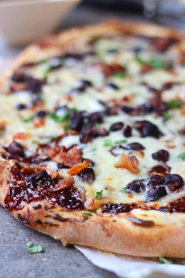 Chipotle Raspberry and Black Bean Pizza