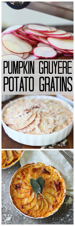 Individual Pumpkin Gruyere Potato Grains
