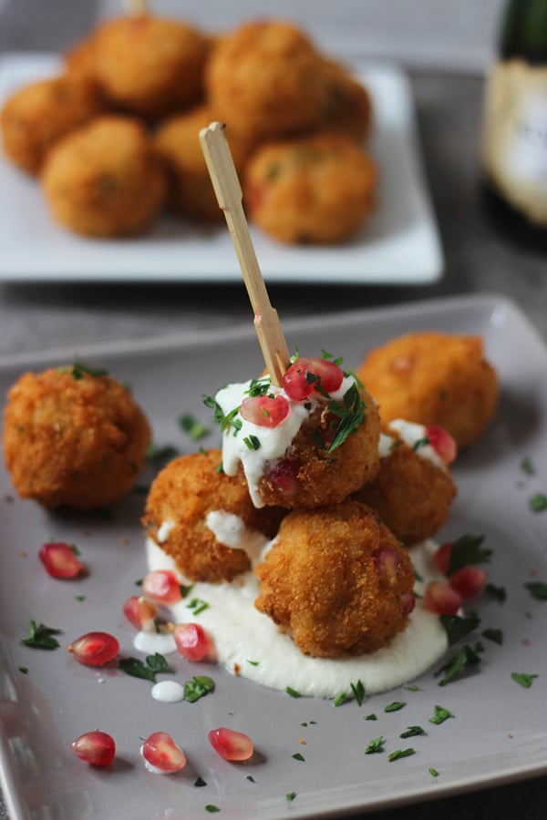 Pomegranate Arancini with Goat Cheese Fonduta 5