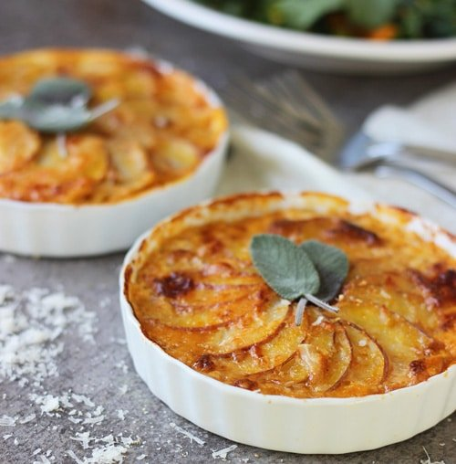Pumpkin and Potato Gratin with Gruyèreand Sage PS