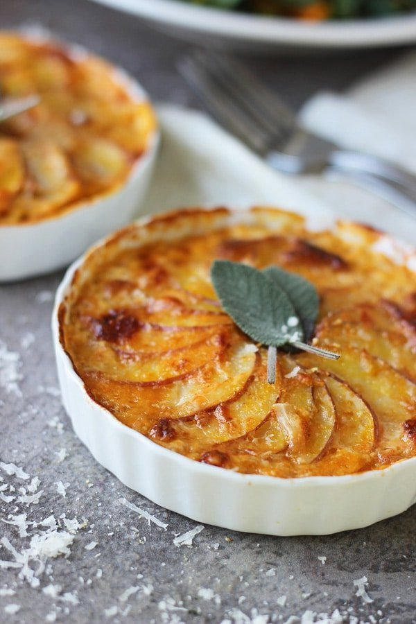Pumpkin and Potato Gratin with Gruyere and Sage 7