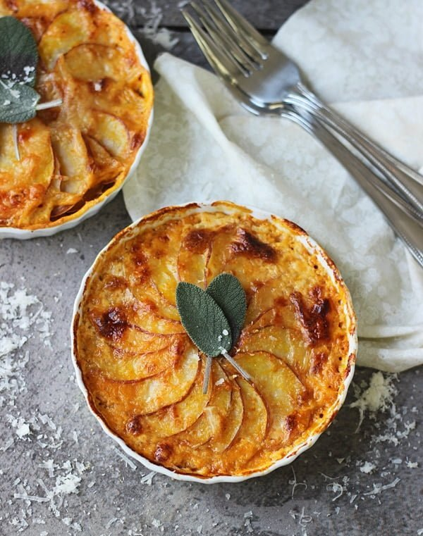 Pumpkin and Potato Gratin with Guyere and Sage 4