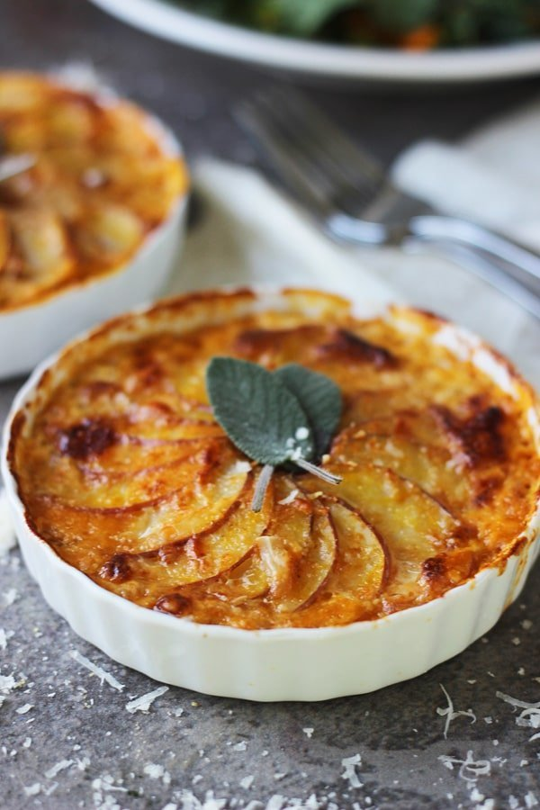 Pumpkin and Potato Gratin with Guyere and Sage 5