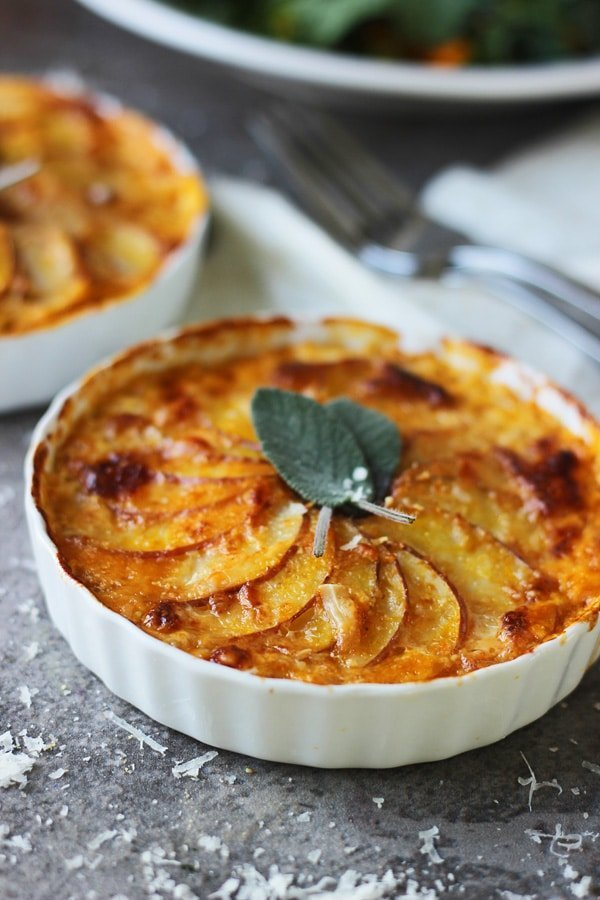 Pumpkin and Potato with Gratin with Gruyere and Sage 6