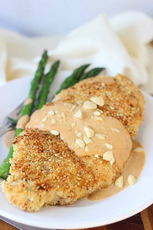 Almond and Sea Salt Crusted Chicken with Cinnamon Pumpkin Cream Sauce 3