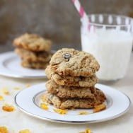 Brown Butter Oatmeal Praline Cookies