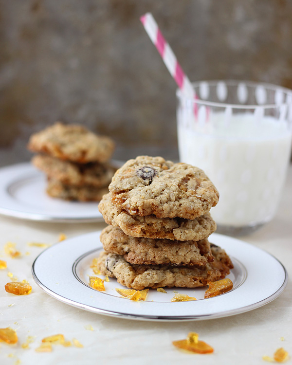 Brown Butter Oatmeal Praline Cookies
