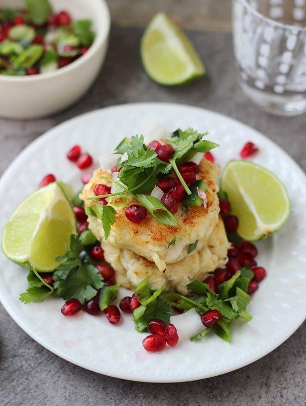 Crispy Crab Cakes with Pomegranate Salsa 3