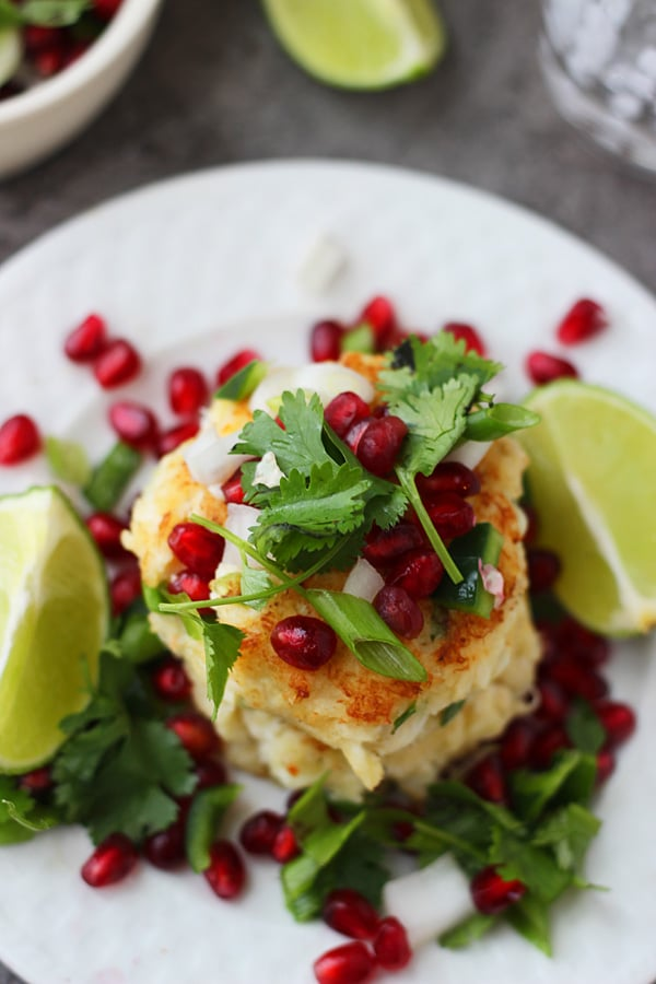 Crispy Crab Cakes with Pomegranate Salsa 5
