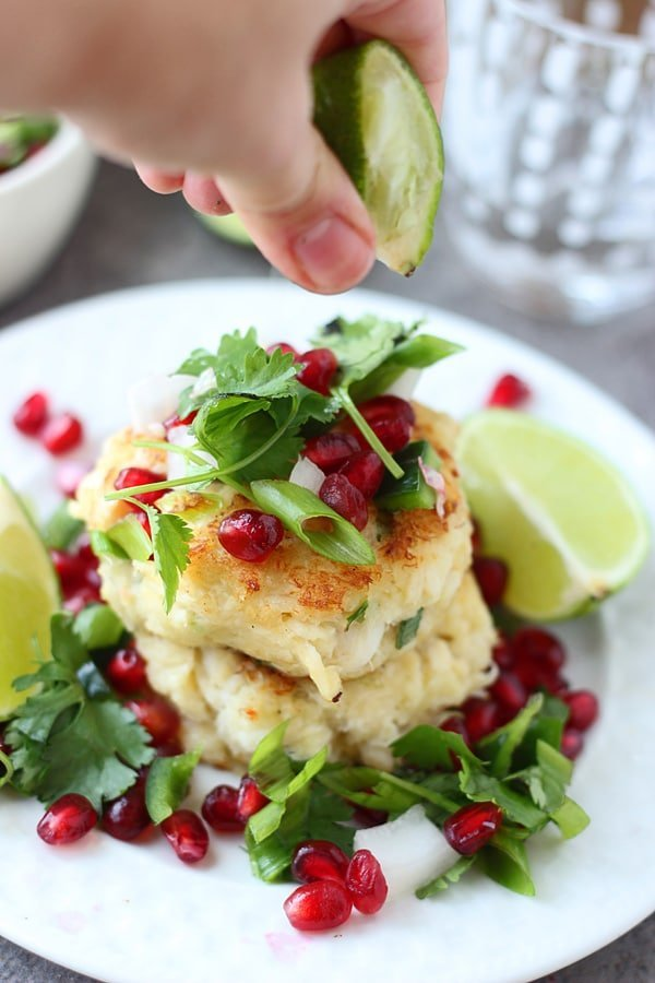 Crispy Crab Cakes with Pomegranate Salsa6